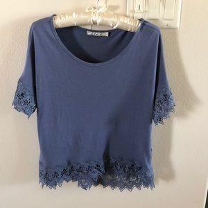 Chloe K blue blouse